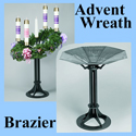 Advent Wreath & Brazier Combination Set