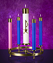 Advent Wreath-Table Style