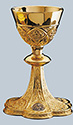 Chalice & Paten-Brass Gold Plated