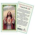 Holy Card-Christ, Prayer For The Sick