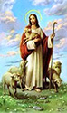 Holy Card-Christ With Sheep