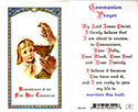Holy Card-Communion, Girl