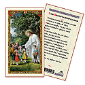 Holy Card-Jesus w/ Children