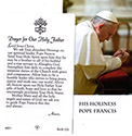 Holy Card-Pope Francis English Or Spanish