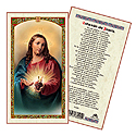 Holy Card-Sagrado Corazon