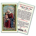 Holy Card-St Anne