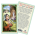 Holy Card-St Bernadette