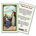 Holy Card-St Monica