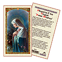 Holy Card-Virgen Rosa Mistica