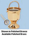 Holy Water Pot & Sprinkler-HP Brass
