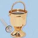Holy Water Pot & Sprinkler-HP Bronze