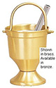 Holy Water Pot & Sprinkler-Satin Bronze